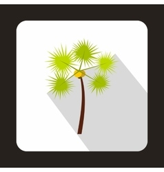 Coconut palm tree icon flat style vector image