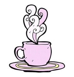 comic cartoon tea cup vector image