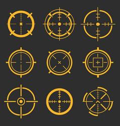 Creative of crosshairs icon vector