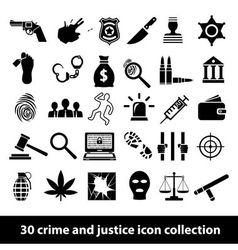 crime and justice icons vector image
