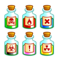 Dangerous liquids vector image