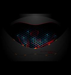 dark metal surface techno scene vector image