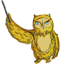 drawn colored owl vector image