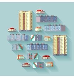 Dwelling buildings vector