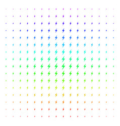 electric bolt shape halftone spectrum effect vector image