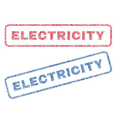 Electricity textile stamps vector