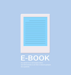 electronic book icon digital reading ebook concept vector image