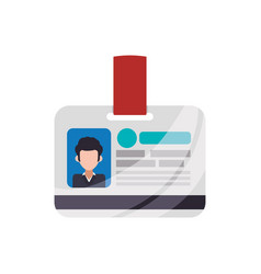employee id card vector image