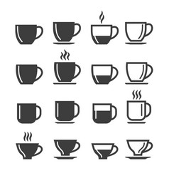 espresso and lungo coffee cups vector image