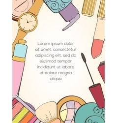 Fashion cosmetic card vector