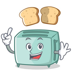 finger toaster character cartoon style vector image