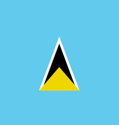 Flag saint lucia flat icon vector