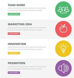 Flat design concept for team work marketing vector