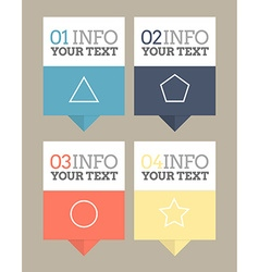 Flat design pointers vector