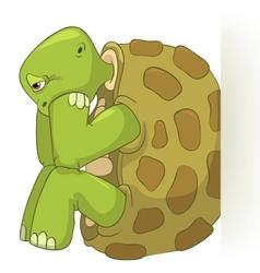 Funny turtle confusion vector