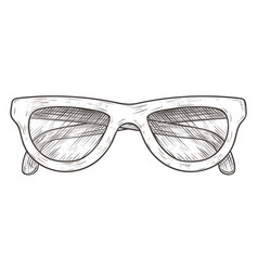 Glasses hand drawn sketch vector