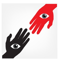 hand with the eyevision concept vector image