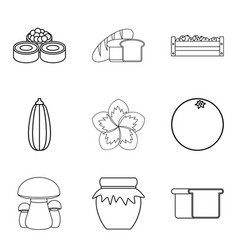 Herbivore icons set simple style vector