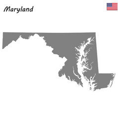 high quality map state united states vector image