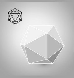 Icosahedron is a geometric figure hipster fashion vector
