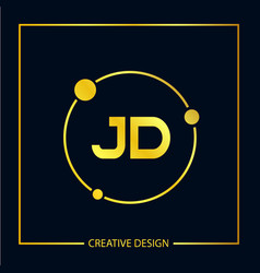 Initial letter jd logo template design vector