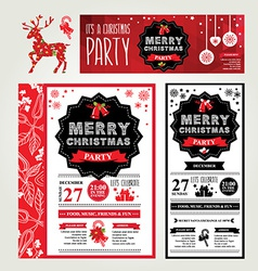 Invitations Merry Christmas vector