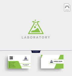 Laboratory logo template and business card vector