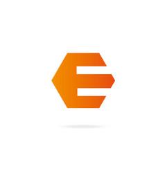 Letter e logo design template elements vector