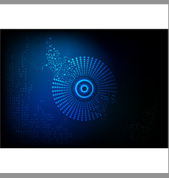 light abstract circle technology vector image