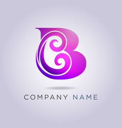 logo letter b template for your business and vector image