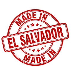 Made in el salvador red grunge round stamp vector