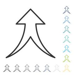 Merge arrow up icon vector