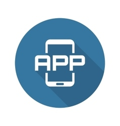Mobile Application Icon Flat Design vector image
