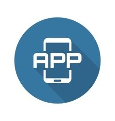 Mobile Application Icon Flat Design vector