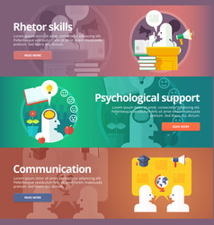 Orator skills psychological support art vector