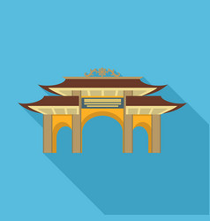 pagoda gate icon flat style vector image