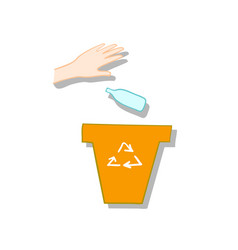 plastic waste collecting vector image