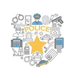 Police Line Icon Set vector