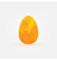 Polygonal golden egg symbol vector image