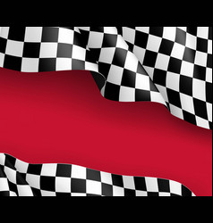 racing flag canvas realistic red background vector image