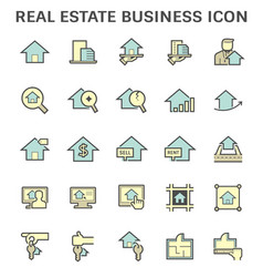 real estate business and investment icon set vector image