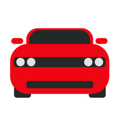 Red car flat on white vector