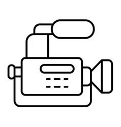 Reportage camera thin line icon camcorder vector
