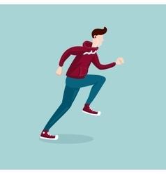 running man the man on run isolated cartoon vector image