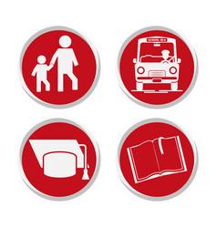 School stickers set design vector