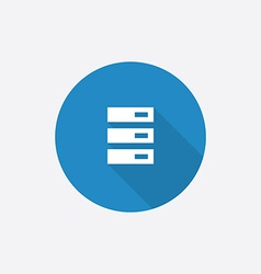 server Flat Blue Simple Icon with long shadow vector image