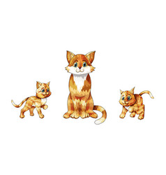 set of cartoon images of cute different vector image