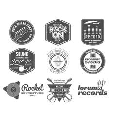 set of music production logolabel sticker vector image