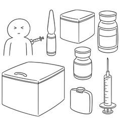 Set of vaccine vector