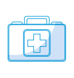 shadow medical bag cartoon vector image
